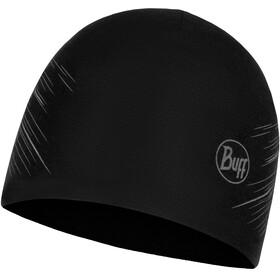 Buff Microfiber Reversible Hat R-Solid Black